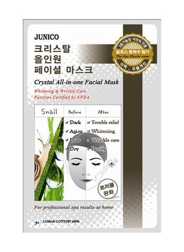 Junico Crystal Snail - Salyangoz Özlü Onarıcı Nemlendirici Yüz Maskesi Renksiz